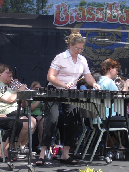 Teralyn Trace-Keith soloing with Athena Brass Band, GABBF 2005