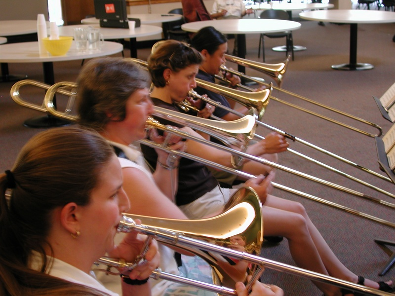 Trombone section rehearsing, GABBF 2005