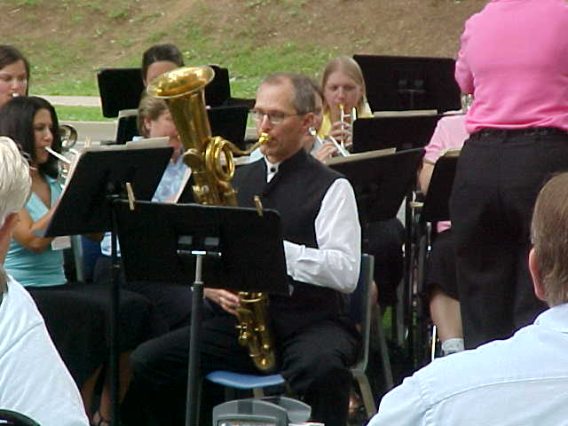 Doug Yeo playing ophicleide with Athena Brass Band, GABBF History Concert 2005