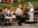 Doug Yeo rehearsing with Athena Brass Band, GABBF 2005